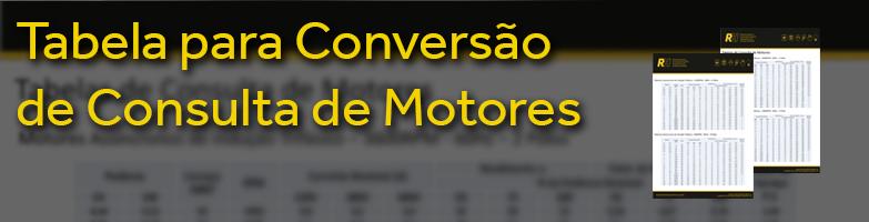 Tabela de Consulta de Motores