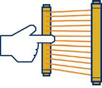 Cortinas de Luz para detecção de dedos