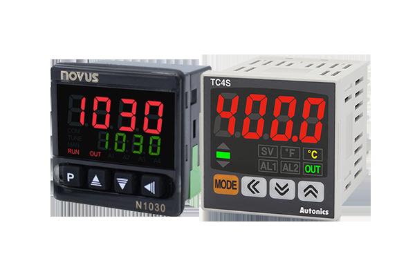 Controladores de temperatura mais encontrados no mercado: N1030 da Novus e TC4S da Autonics